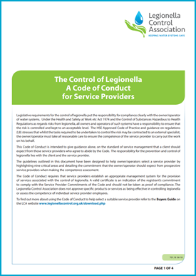 The Control of Legionella