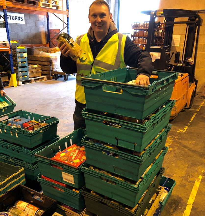 FareShare volunteering Paul