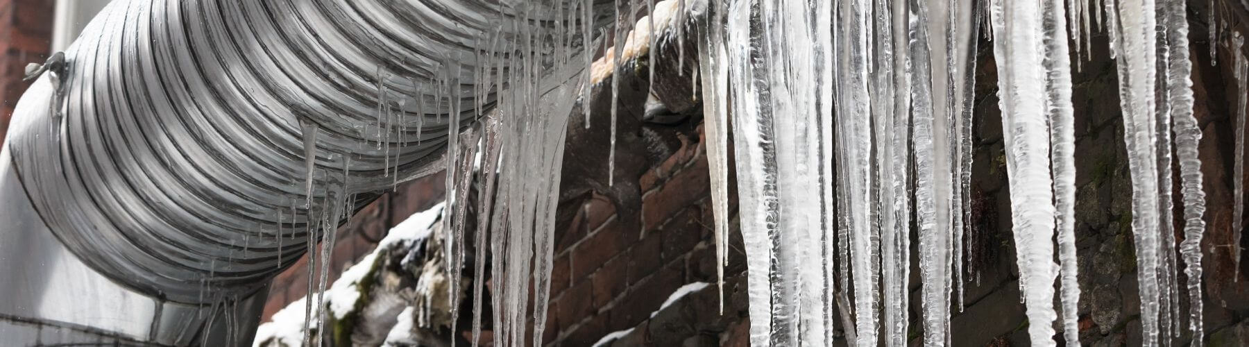 Pipes frozen over